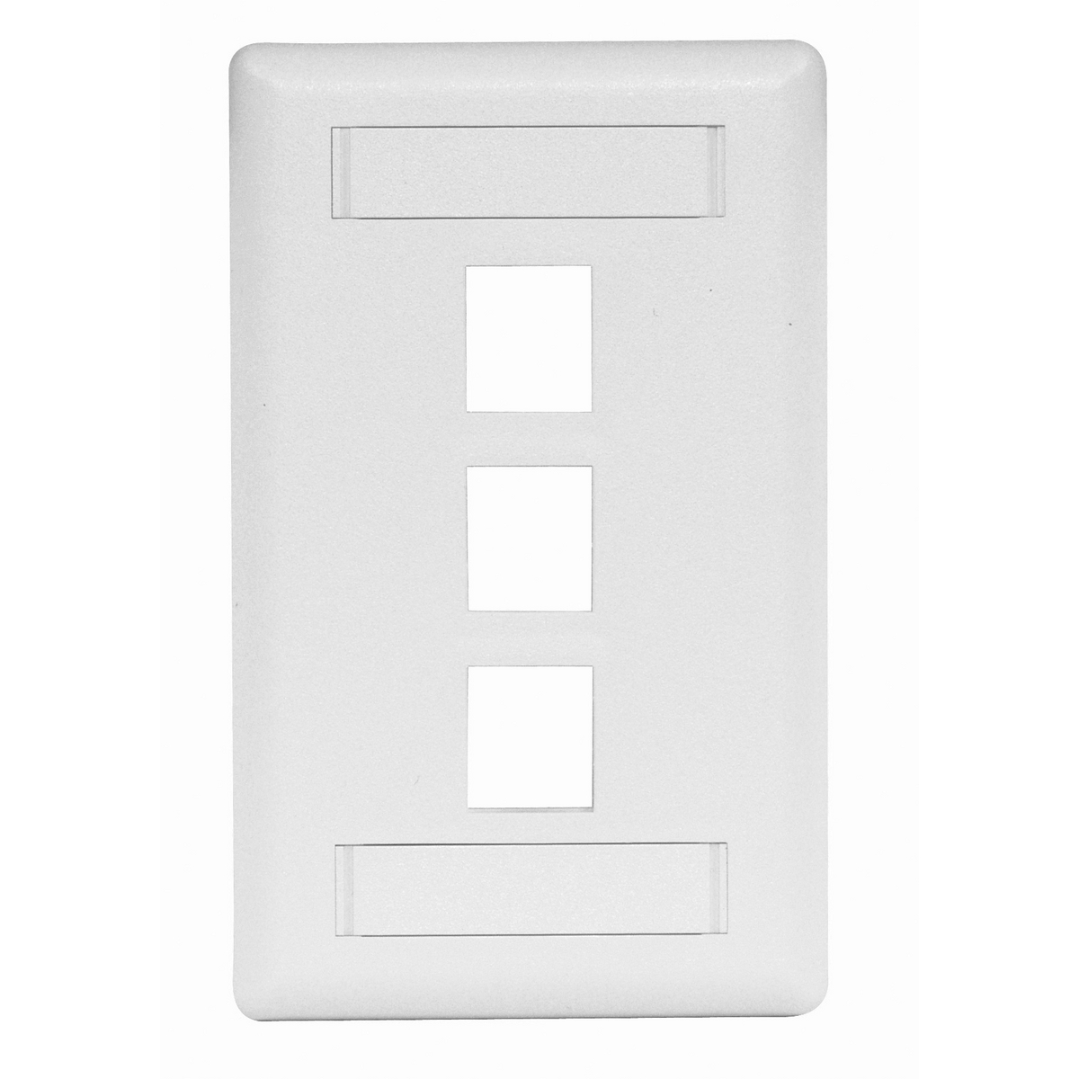 HUBPR IFP13W PLATE, WALL, FLUSH, 1-G, 3PORT, WH