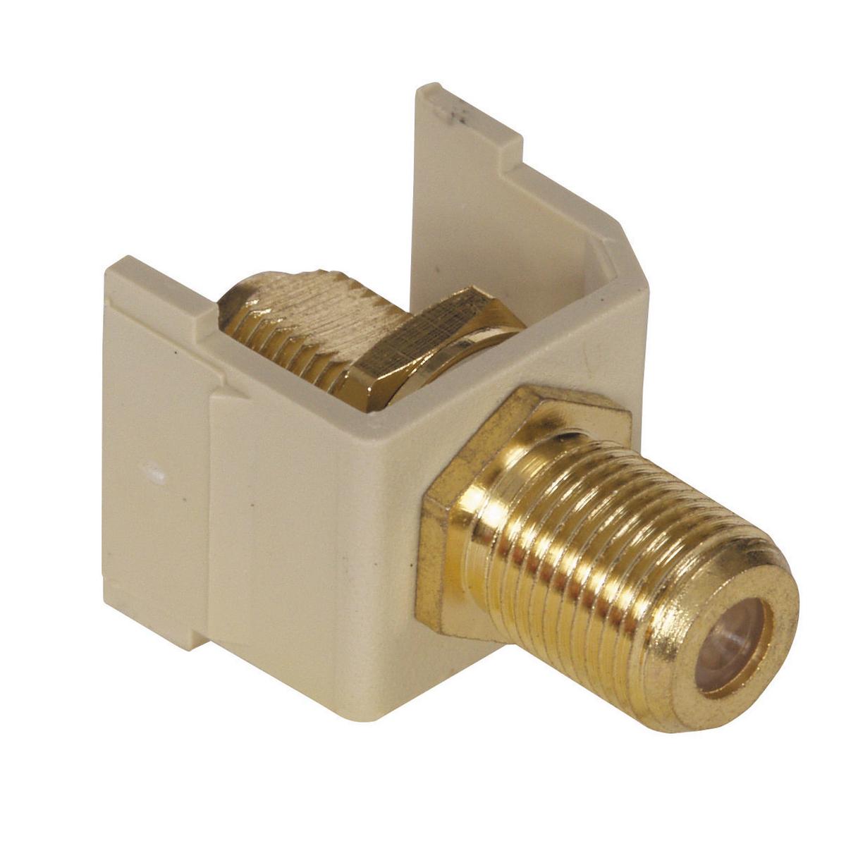 HUBPR SFF3GEI SNAP-FIT, 3GHZ, GOLD F CONN, EI 3Ghz f-connector insert electric ivory