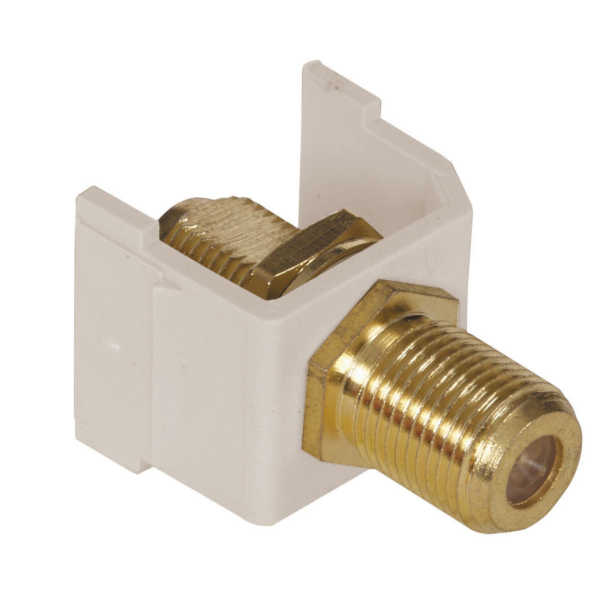 HUBPR SFF3GLA SNAP-FIT, 3GHZ, GOLD F CONN, LA 3Ghz f-connector insert light almond