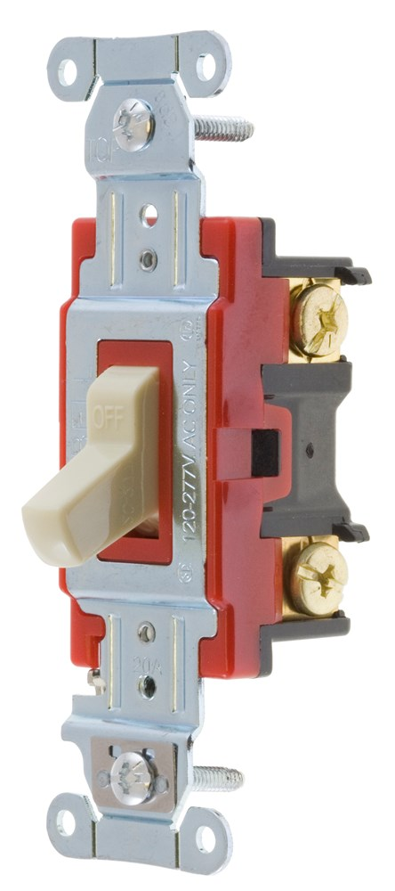 Hubbell Wiring Device-Kellems,1221I,SWITCH, HUBPRO, 1-POLE, 20A 120/277V, IV