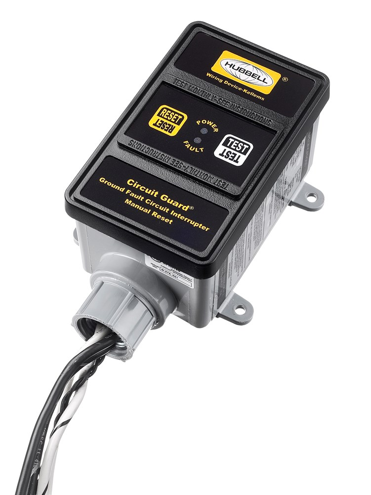 Hubbell Wiring Device-Kellems,GFHW23015,HW GFCI, 30A 240V, MAN, W/ENUN