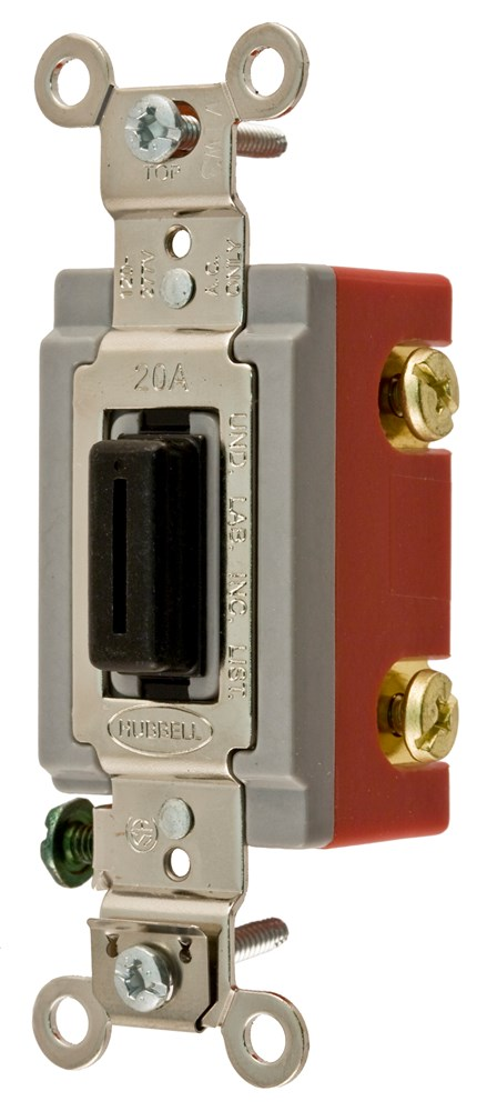 Hubbell Wiring Device-Kellems,HBL1221L,SP TOG, IND GRD, 20A 120/277V, LOCK