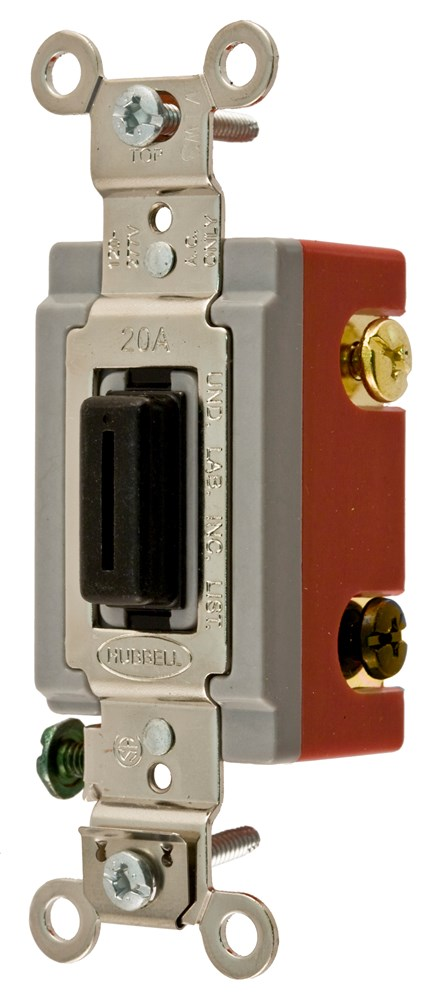 Hubbell Wiring Device-Kellems,HBL1224L,4 WAY TOG, IND GRD, 20A 120/277V, LOCK