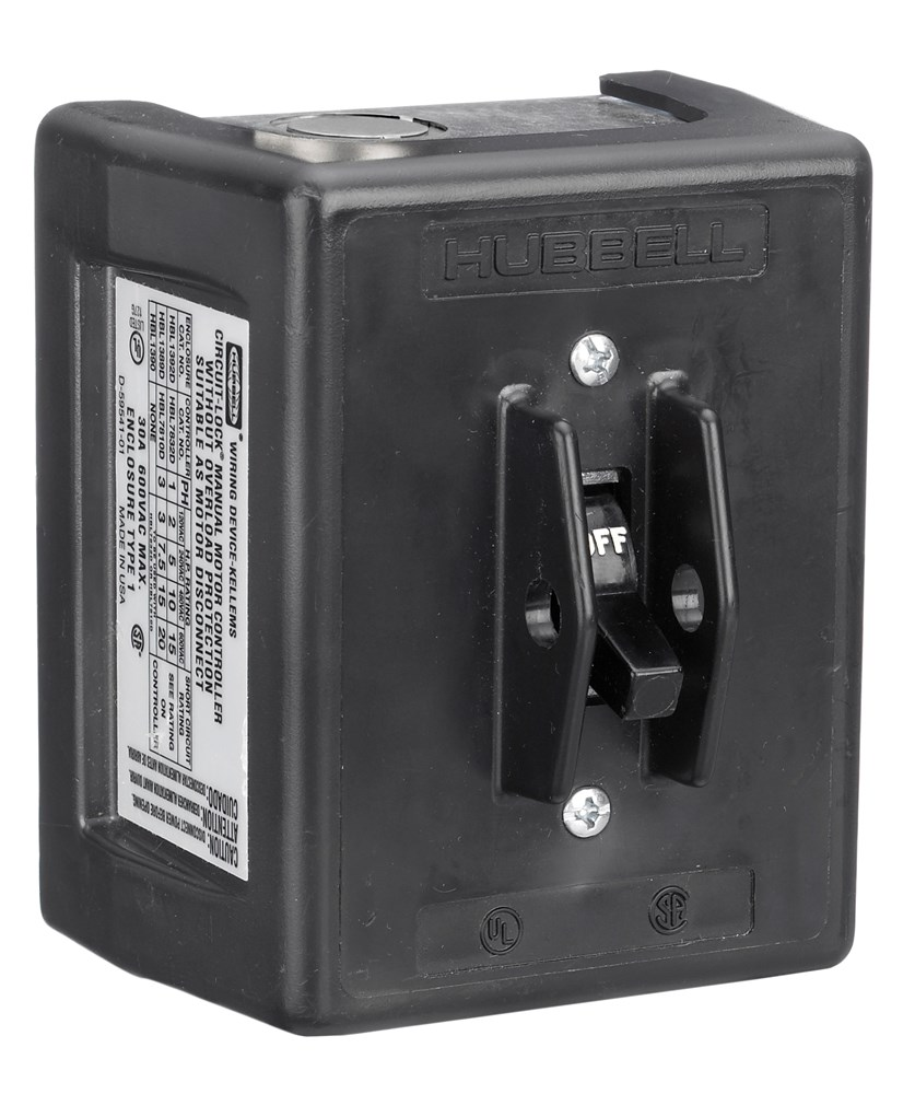 Hubbell Wiring Device-Kellems,HBL1389D,30A 600V 3P DISC SW W/NEMA 1 PLAS