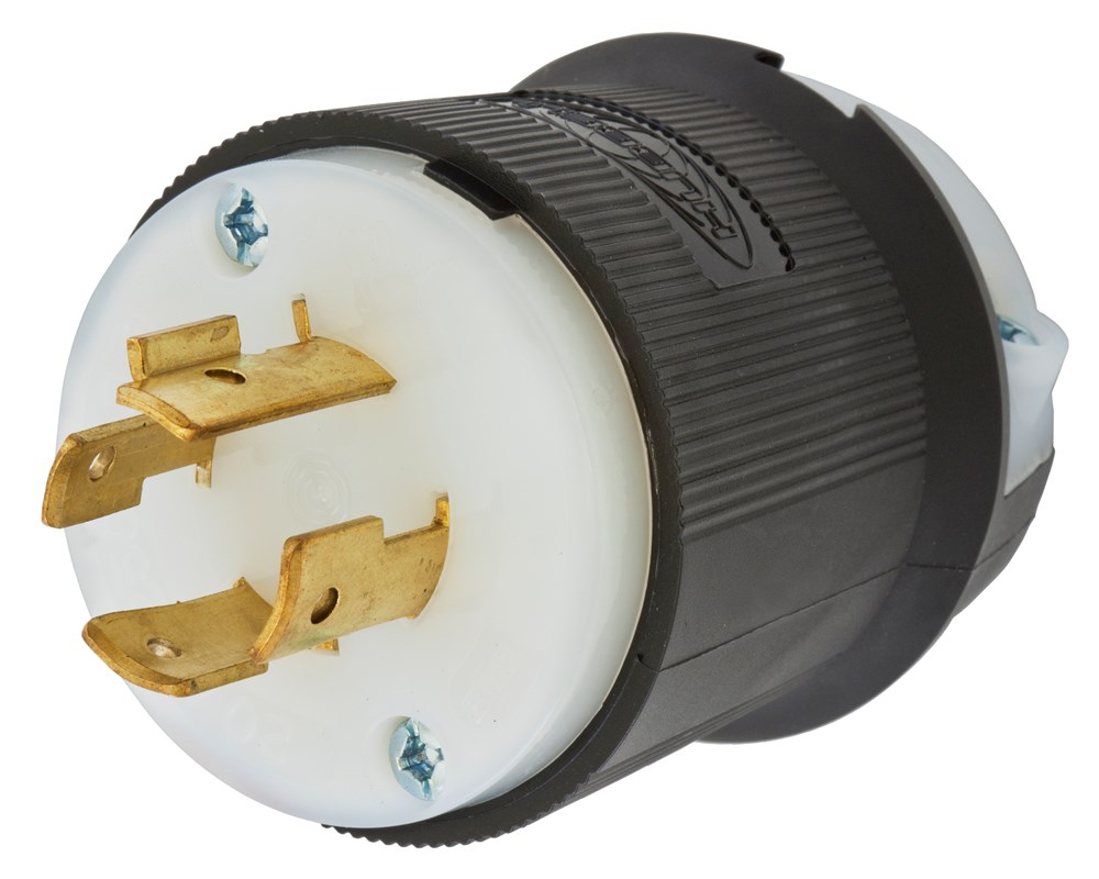 Hubbell Wiring Device-Kellems,HBL2421,LKG PLUG, 20A 3P 250V, L15-20P, B/W