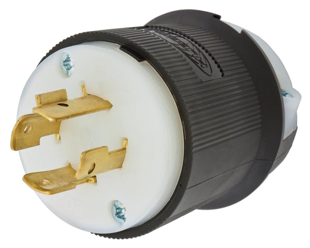 Hubbell Wiring Device-Kellems,HBL2431,LKG PLUG, 20A 3P 480V, L16-20P, B/W