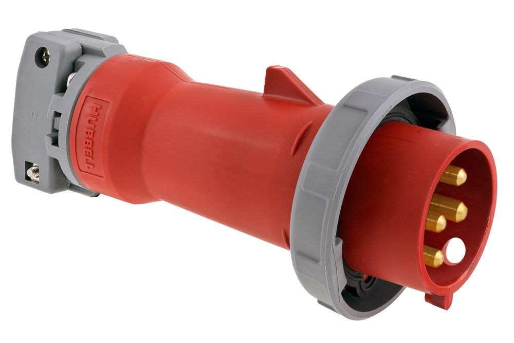Hubbell Wiring Device-Kellems,HBL420P7W,PS, IEC, PLUG, 3P4W, 20A 3P 480V, W/T