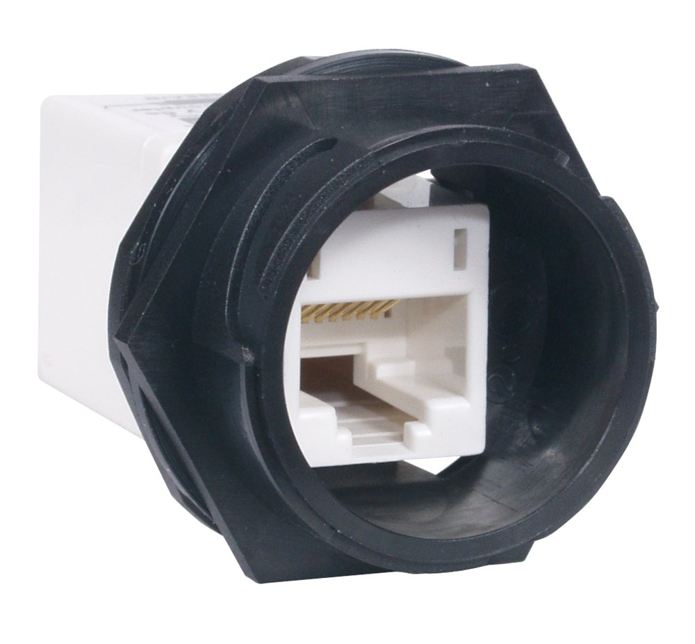 Hubbell Wiring Device-Kellems,HI5EC,JACK, IN-LINE COUPLER,HI,5E,WH