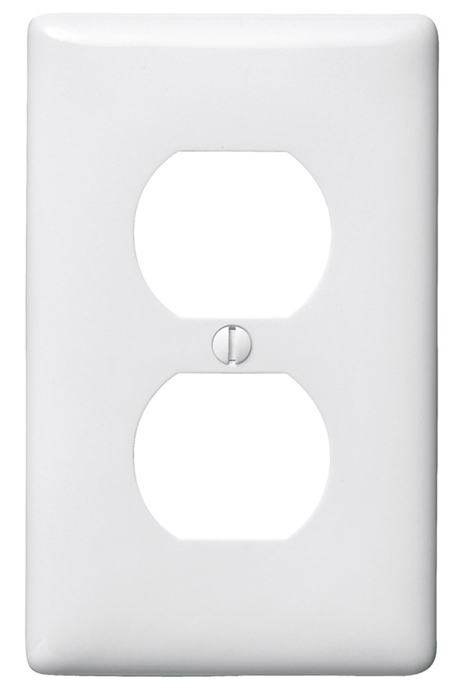 Hubbell Wiring Device-Kellems,NP8W,WALLPLATE, 1-G, 1) DUP, WH