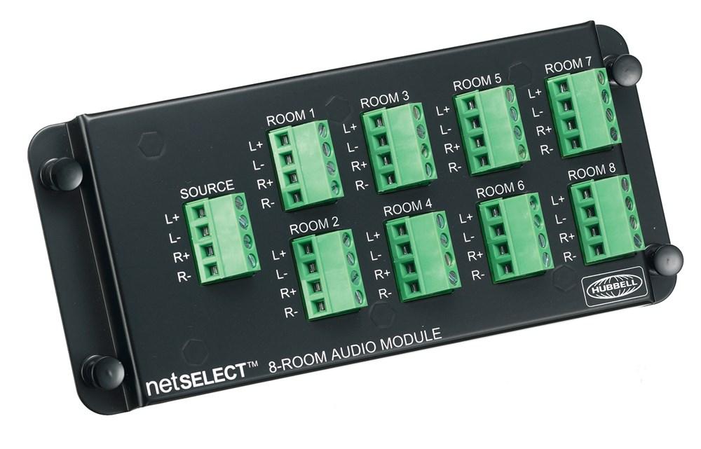 Hubbell Wiring Device-Kellems,NSOAM8,MODULE, NETSELECT,AUDIO,8-PORT