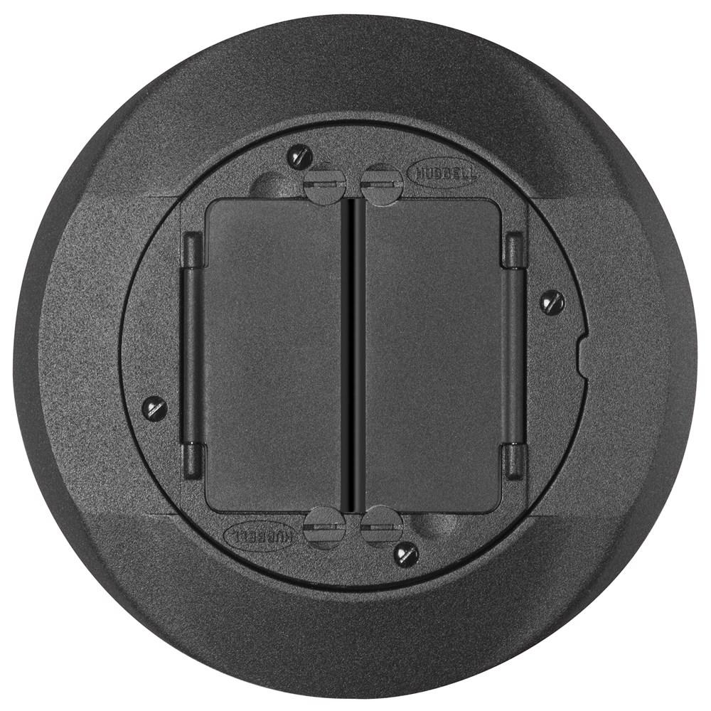 Hubbell Wiring Device-Kellems,S1CFCBL,FRPT, CARPET FLNG.SYSTEM 1, BLACK