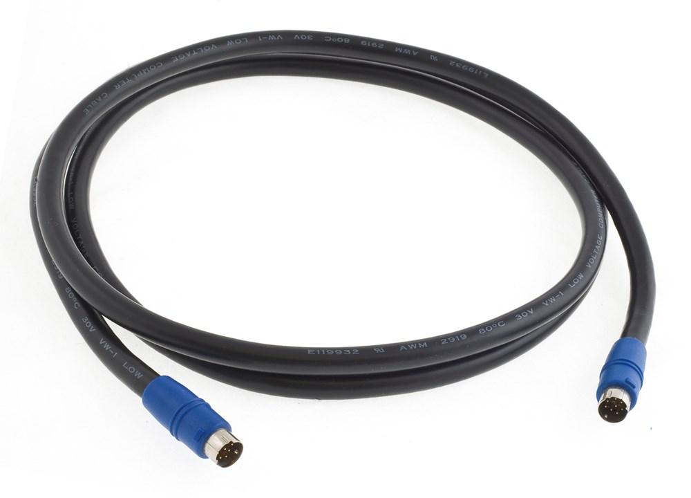 Hubbell Premise Wiring,VGA675BK,P-CORD, AV,8PIN,NON-PLENUM,75FT,BK