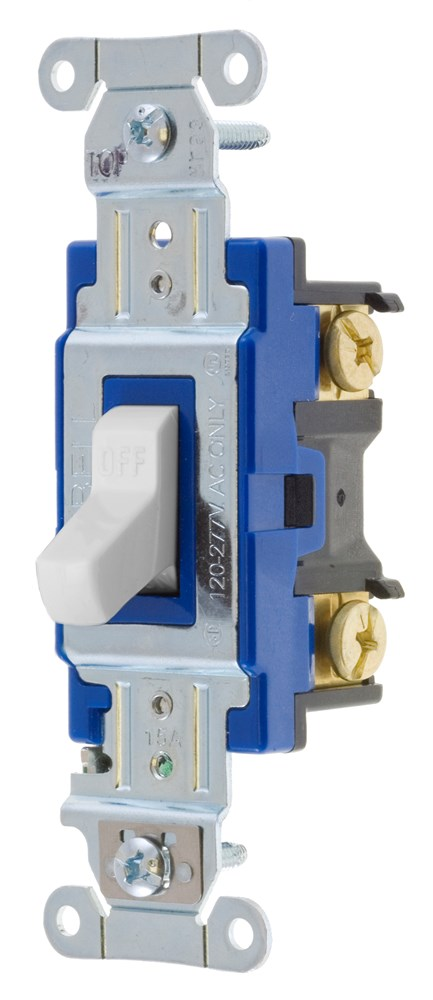 hubbell wiring device-kellems,1201w,switch, hubpro, 1-pole,
