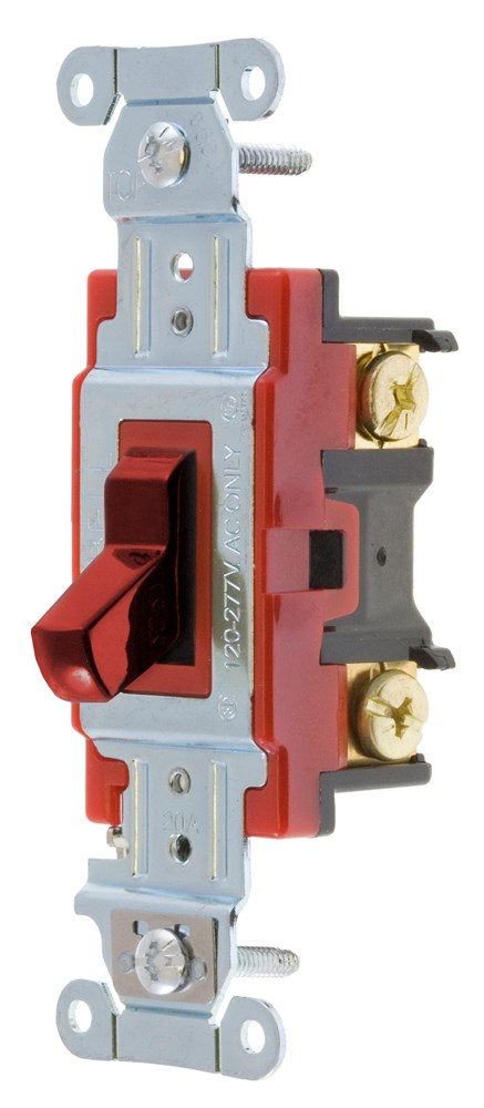 HUB 1223R SWITCH, HUBPRO, 3-WAY, 20A 120/277V, RD