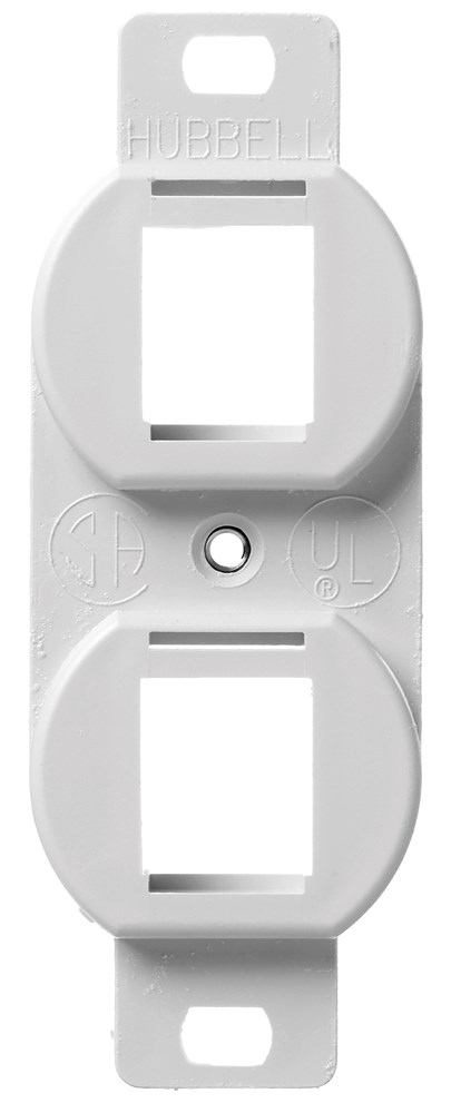 HUBPR BR106W PLATE, FRAME,DUP,2 P,WH