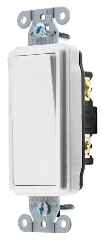 HUB DS120W SWITCH, DECO SER, SP, 20A 120/277V, WH