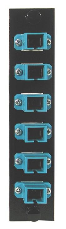 Hubbell Wiring Device-Kellems,FSPSC6,FIBER, ADAPT PNL,6FIB,6 SC SMPLX,P-BZ,BL
