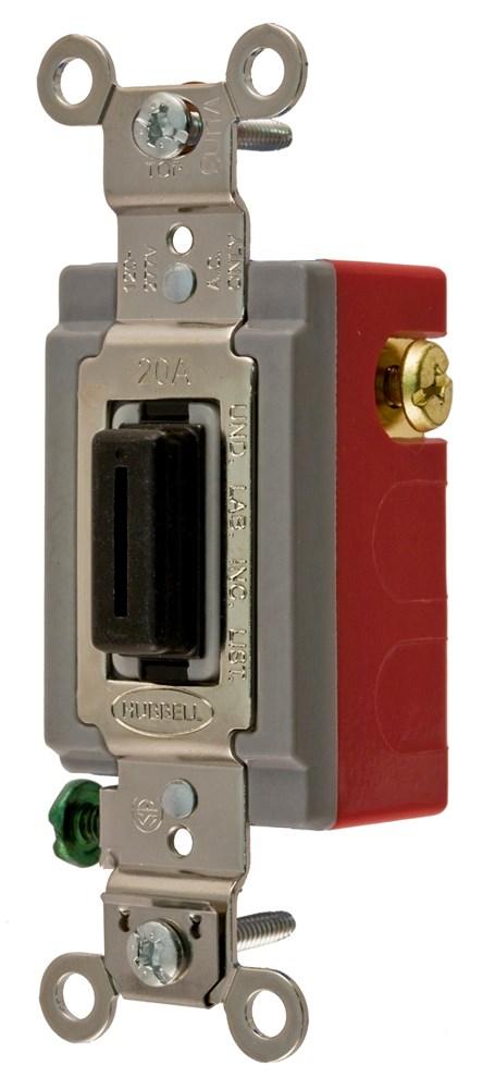 Hubbell Wiring Device-Kellems,HBL1557L,MOM TOG, 20A, 120/277V, SPDT, LOCK