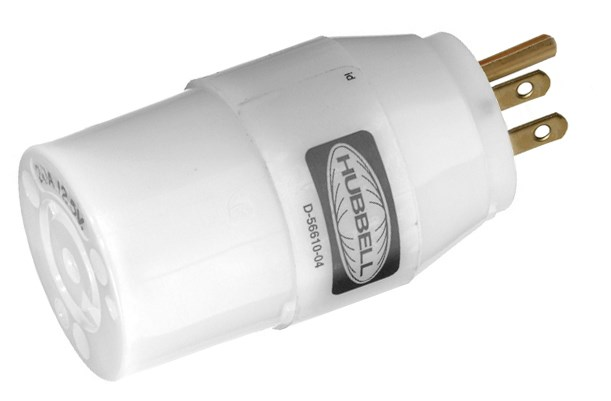 Hubbell Wiring Device-Kellems,HBL2128,ADAP NEMA 5-15P TO NEMA L5-20R