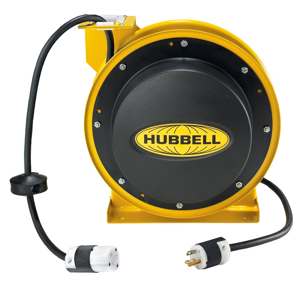 Hubbell Wiring Device-Kellems,HBL45123C20,CORD REEL W/HBL5369C, 45' 12/3