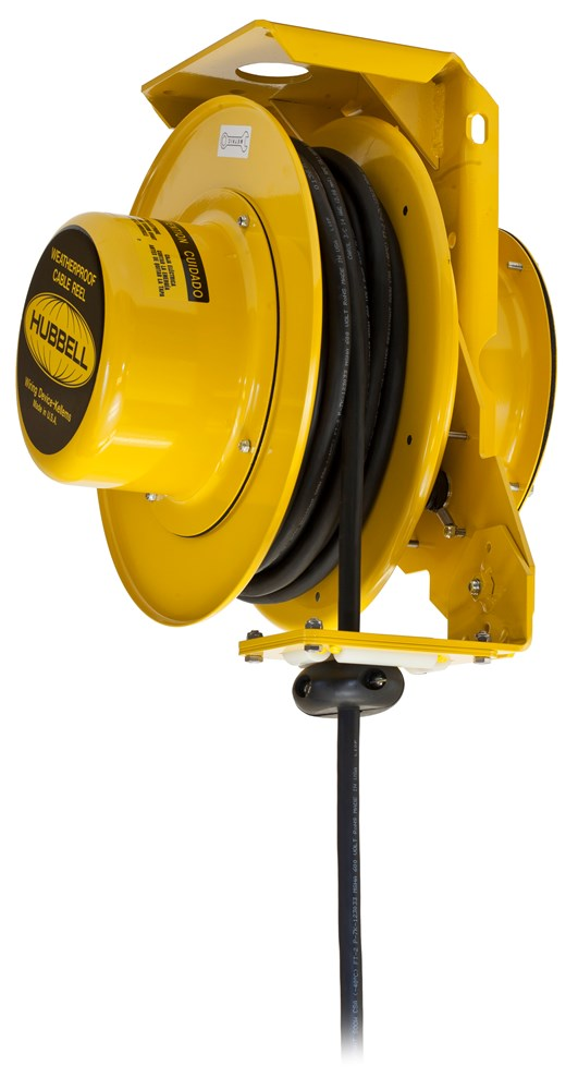 HUBHBL501242W HUBW HBL501242W 16IN WP CABLE;Wiring Device-Kellems HBL501242W Heavy Duty Cord Reel With Wire Stripped Lead, 600 VAC, 16 A, 50 ft L Cord, 12/4 AWG Conductor