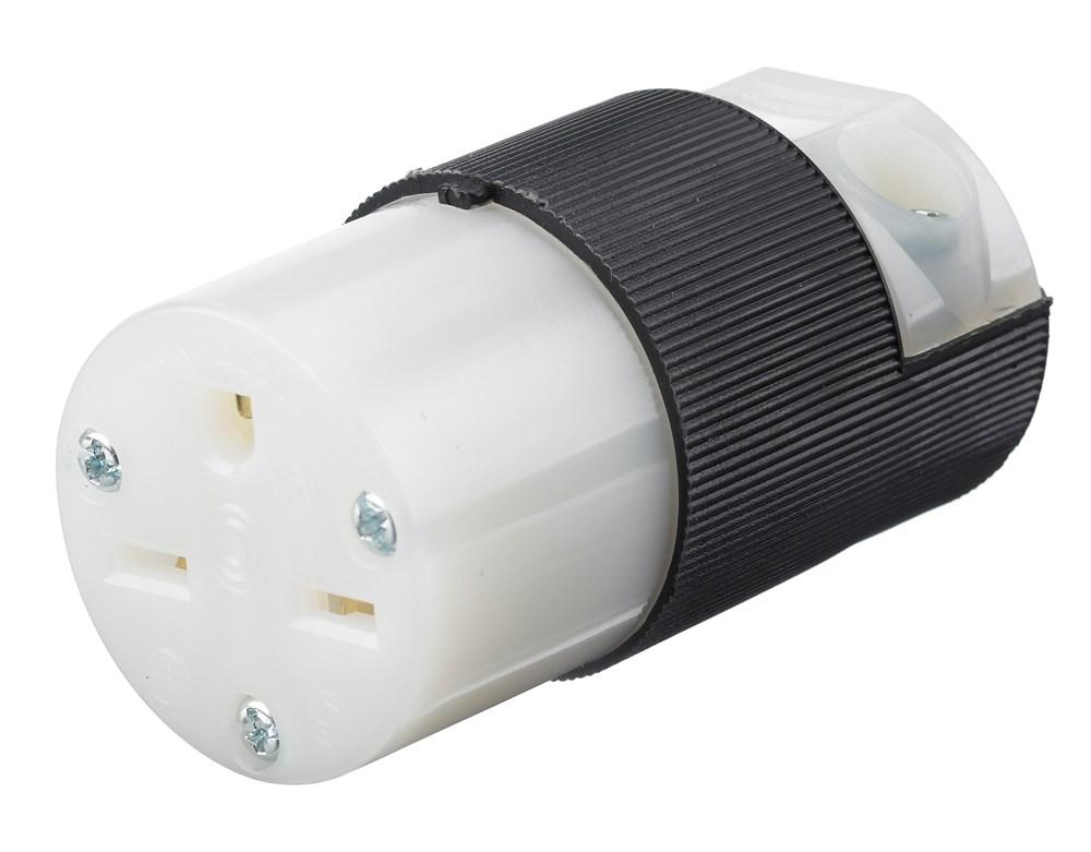 HUB HBL5669C CONN, 15A 250V, 6-15R, B/W