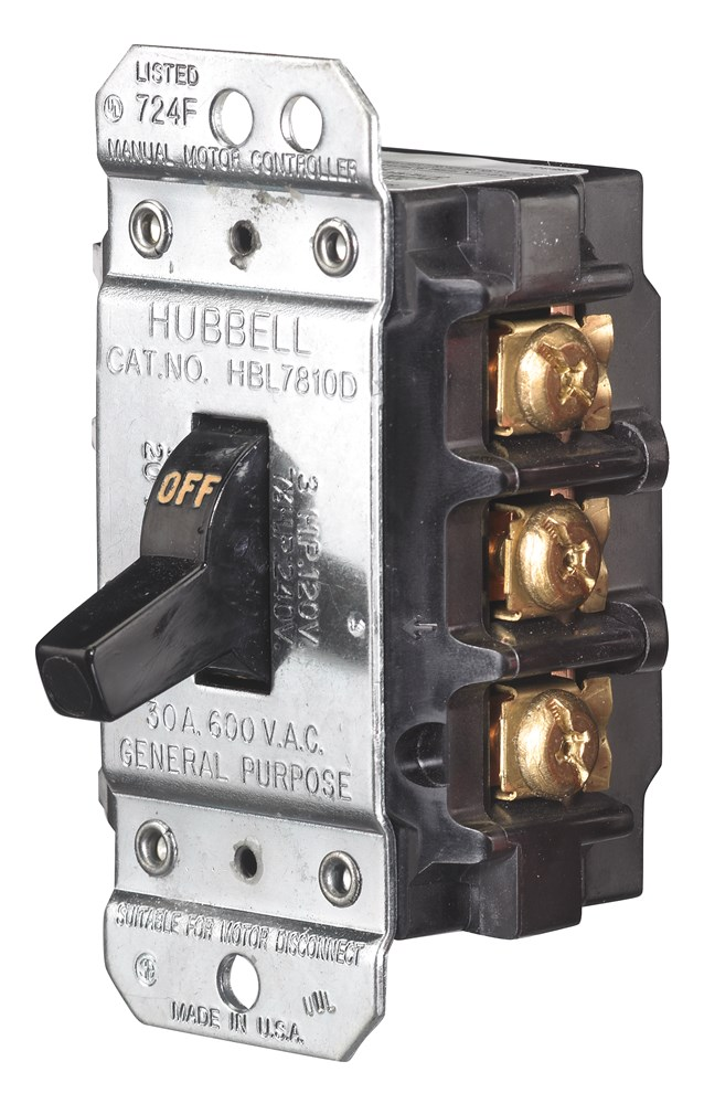 Hubbell Wiring Device-Kellems,HBL7810D,30A 600V 3P DISC SW