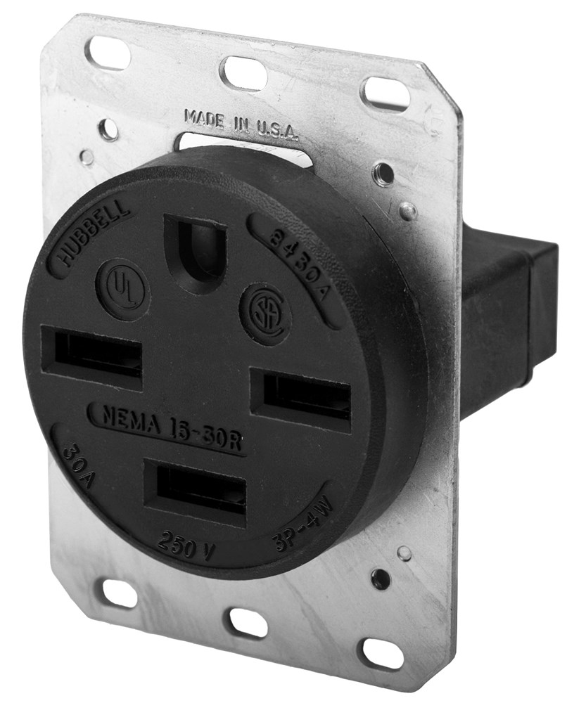 HUB HBL8430A 30a 250v 3p 4w Grounding Receptacle NEMA15-30R