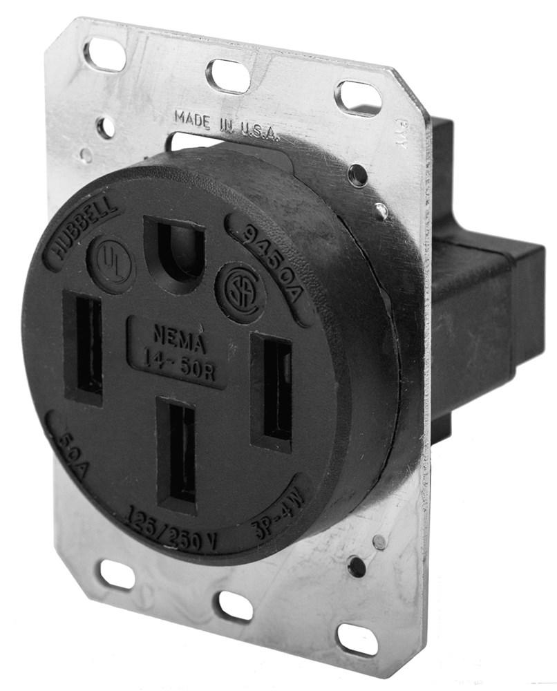 HUB HBL9450A RCPT, 3P4W, 50A 125/250V, 14-50R