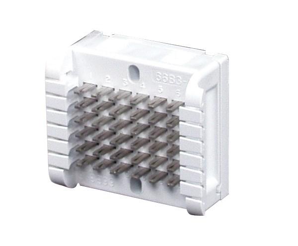 Hubbell Wiring Device-Kellems,HPW66B36,BLOCK, MODULAR,66B,SPLIT(3X)6PR,W/CVR