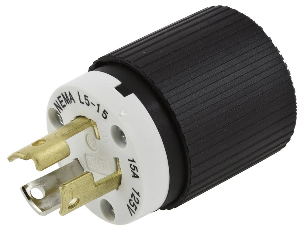 HUB L520P PLUG 2P3W 20A 125V NEMA L5-20P cs=10