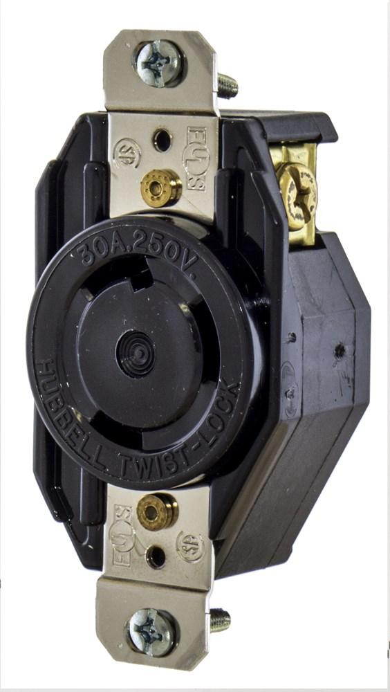 Hubbell Wiring Device-Kellems,L630R,LKG RECP, 30A 250V, SELSPEC, L6-30R