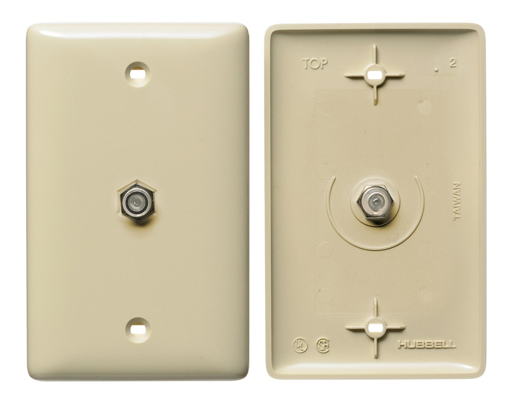HUB NS750I 1G IVY WALL PLATE W/F-CONN CS=10