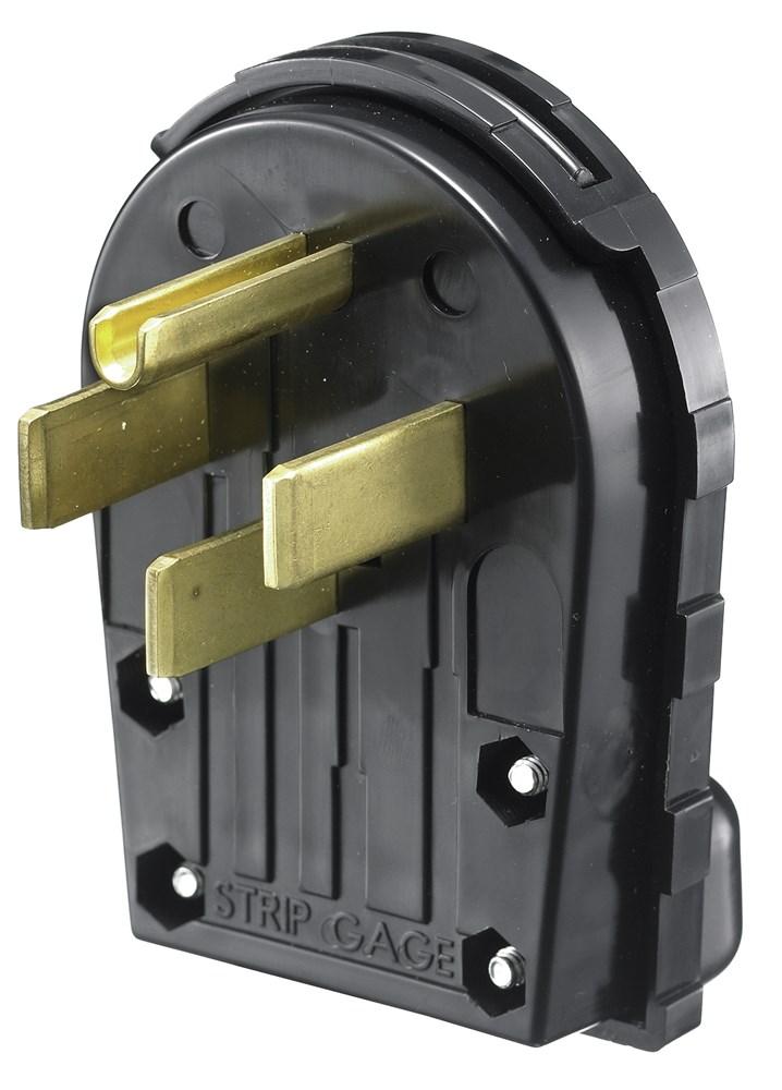 HUB RR435P 30A OR 50A 125/250V 3P4 ANGLED RECPT NEMA 14-30P OR 14-50P