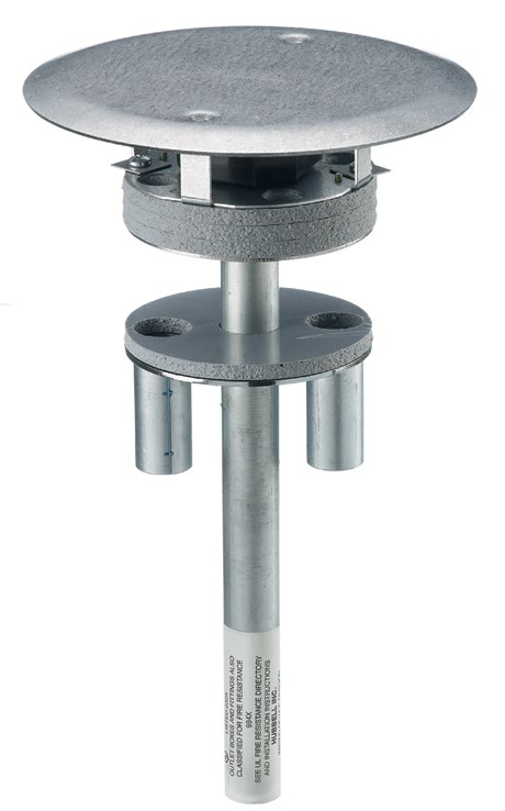 Hubbell Wiring Device-Kellems,S1PT4X4FIT,PREMISE WIRING SystemOne 3-Piece Fire Rated Poke-Through Fitting, 4 in Hole, 4 x 4 in Cover, Fabricated Composite