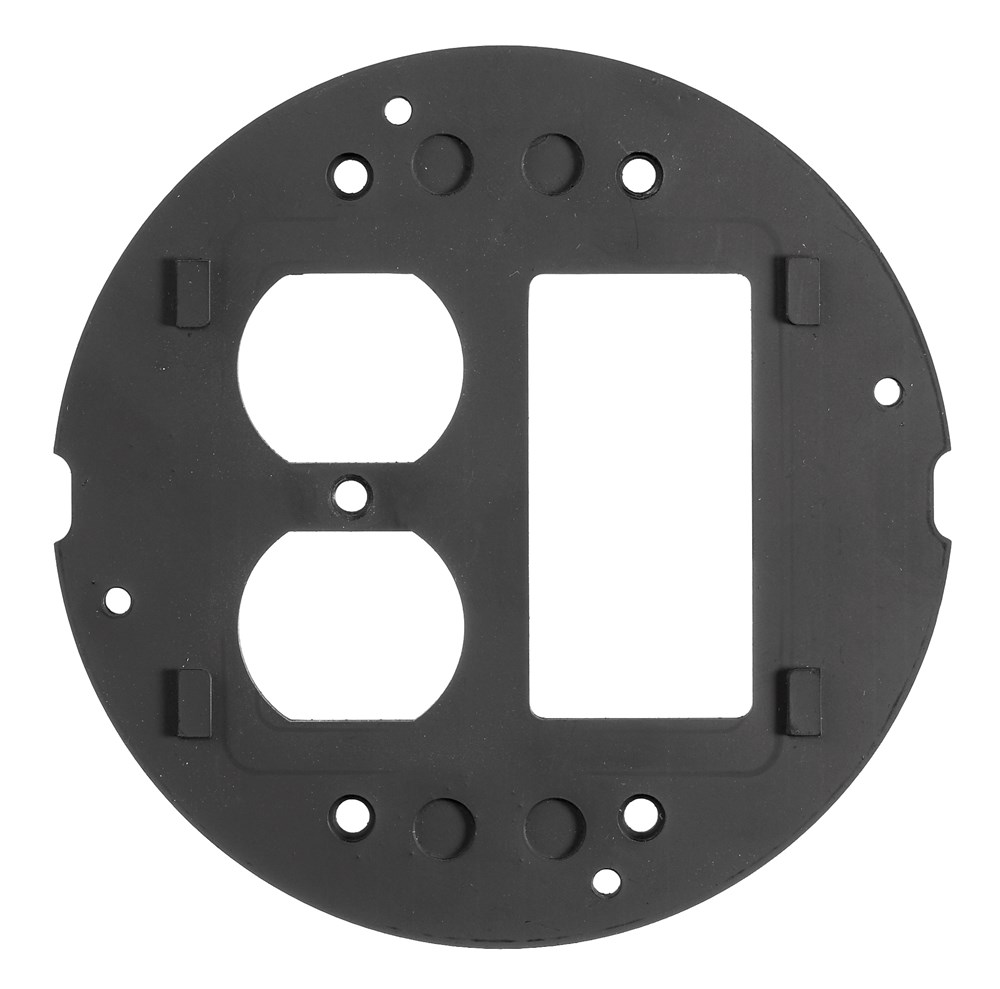 Hubbell Wiring Device-Kellems,S1SPDUSL,SYSTEMONE SUBPLATE, DUPLEX/STYLELINE