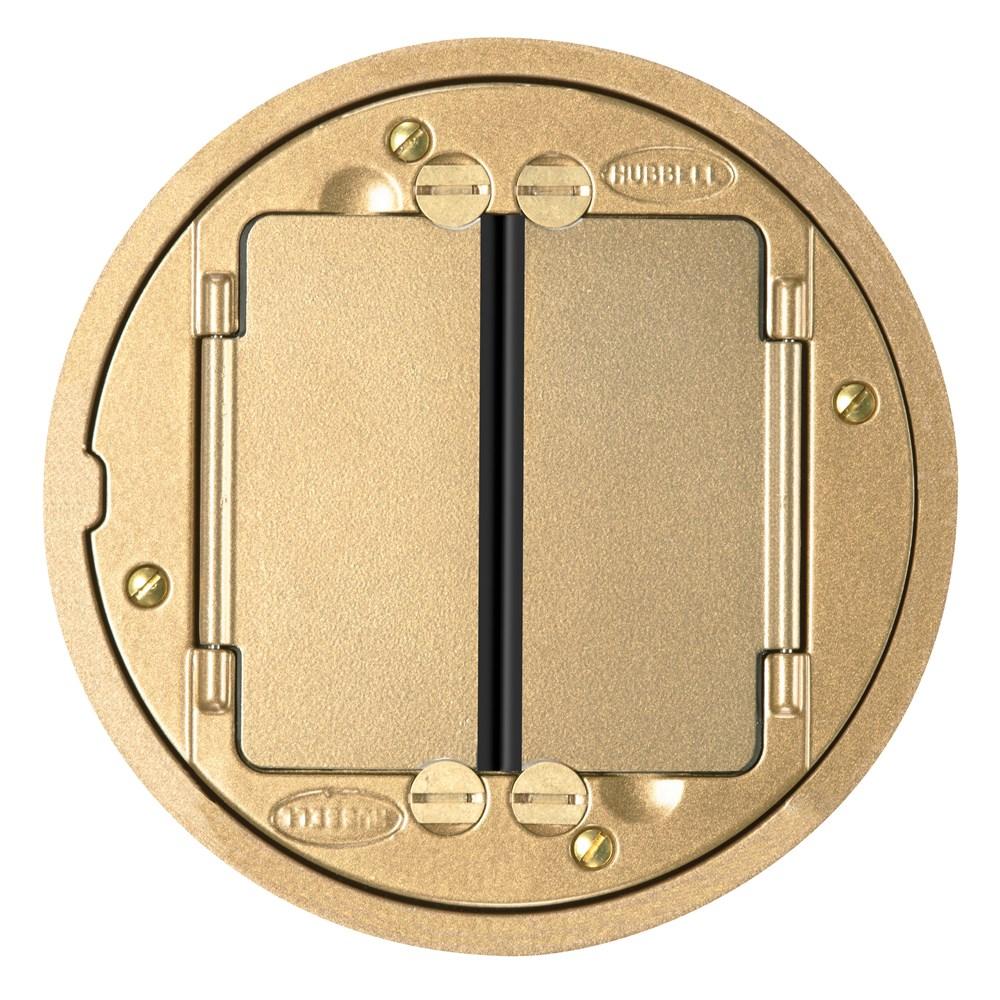 Hubbell Wiring Device-Kellems,S1TFCBRS,FRPT, TILE FLNG. SYSTEM 1, BRASS