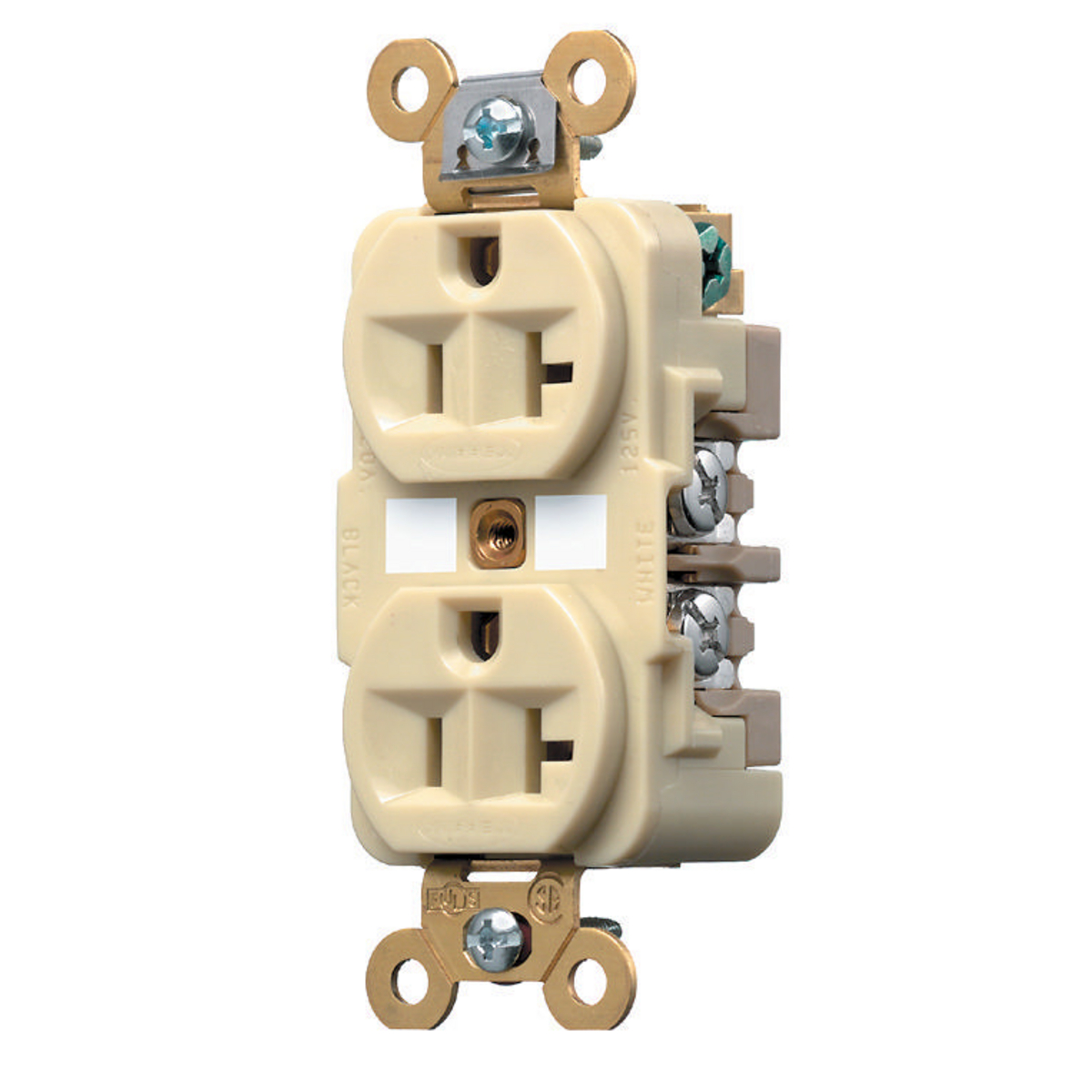 Wire Devices Receptacles Duplex Single Receptacle Dominion Electric Hubbell Usb Wiring Diagram Hub Hbl5362i Dplx Rcpt Nema5 20r Cs10