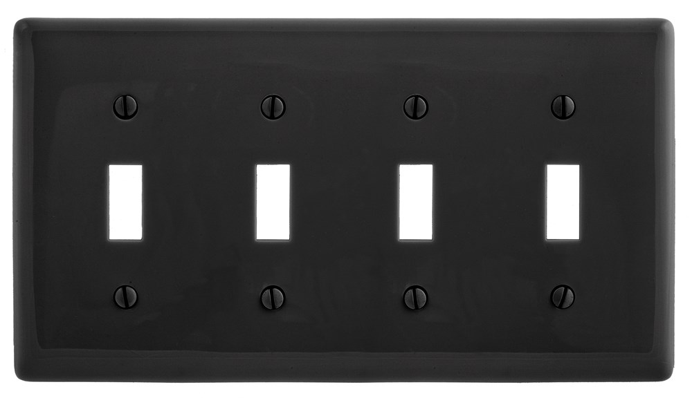 Ivory Bryant Electric NP264I 4-Gang 4 Decorator//GFCI Wall Plate