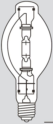 Hubbell Sportslighter Solutions,LMP-1000W MH MOG UNV BT56 CLR ENCL,LAMP 1000W MH UNIV  BT56 CLR KB