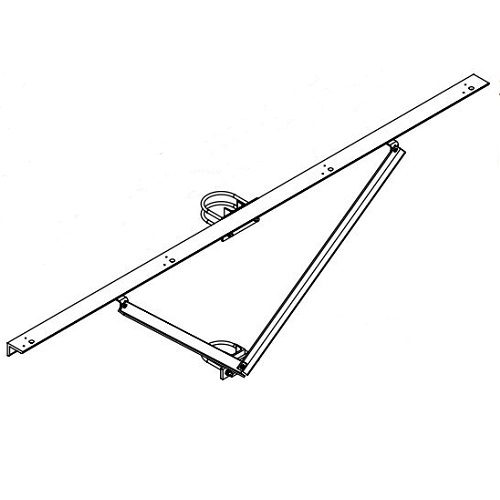 Hubbell Sportslighter Solutions,TCA-R4,BRKT X-ARM RND STEEL POLE 4 FIXT