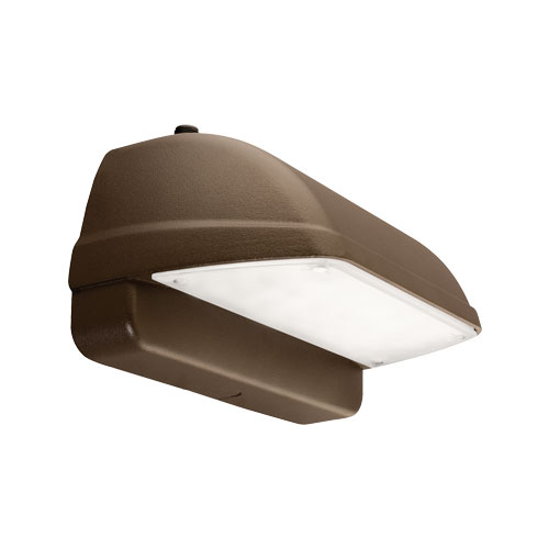 Hubbell Lighting Outdoor,LNC2-12LU-5K-3-1,Hubbell® LNC2 Outdoor Wallpack, 12 LED Lamp, 28 W Fixture, 120 to 277 VAC, Bronze Housing