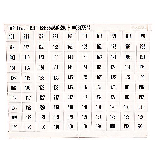 ABB,023406122,RC810 MARKER VERT 10 X 101-200