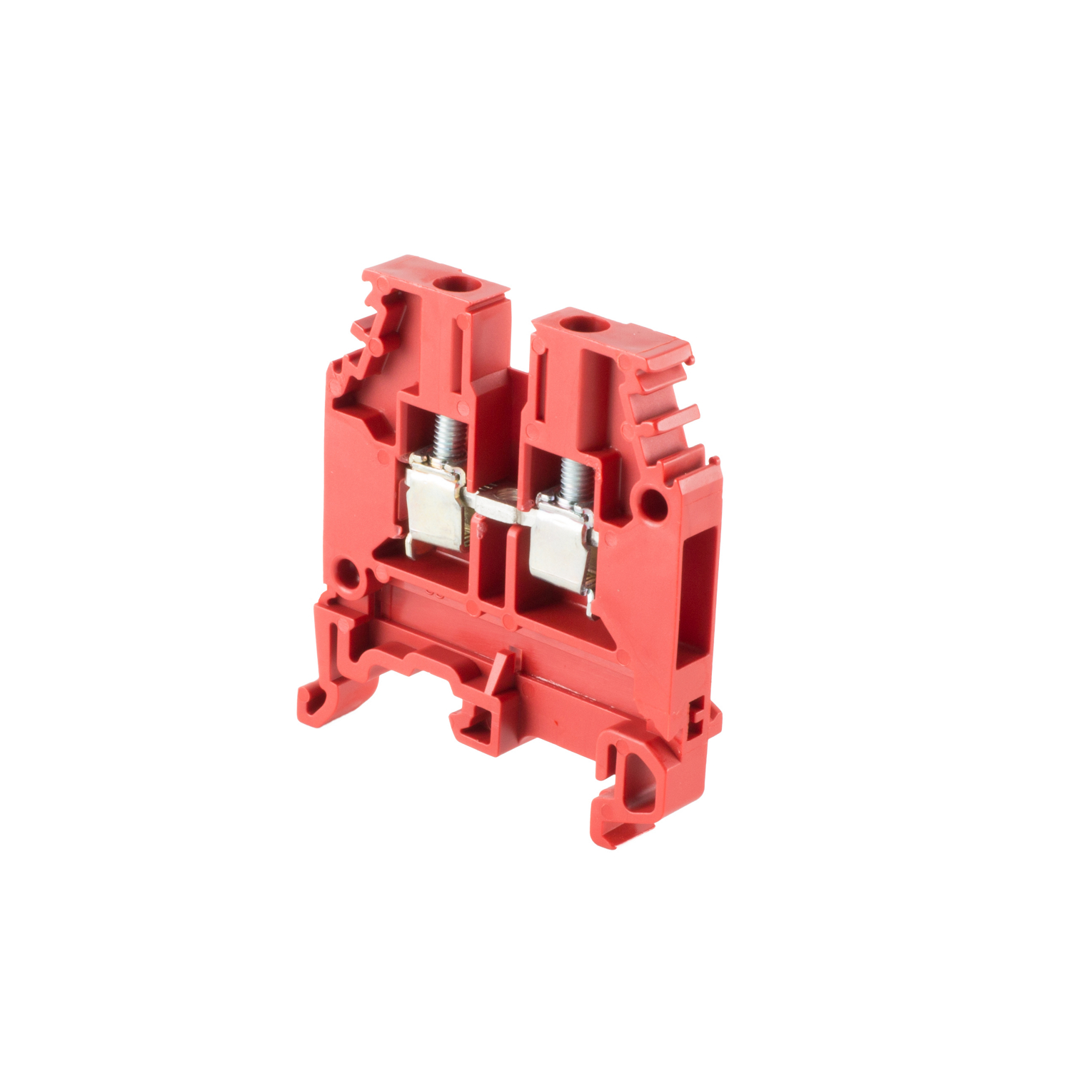 ABB 010503215 Red, feed through terminal block with 6 mm spacing, 30 Amp rated UL current with screw clamp connection that accepts 22-10 AWG UL wire range OLD PART# 1SNA105032R1500