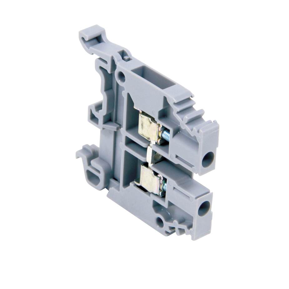 ABB 011511607 Gray, feed through terminal block with 6 mm spacing, 30 Amp rated UL current with screw clamp connection that accepts 22-10 AWG UL wire range OLD# 1SNA115116R0700