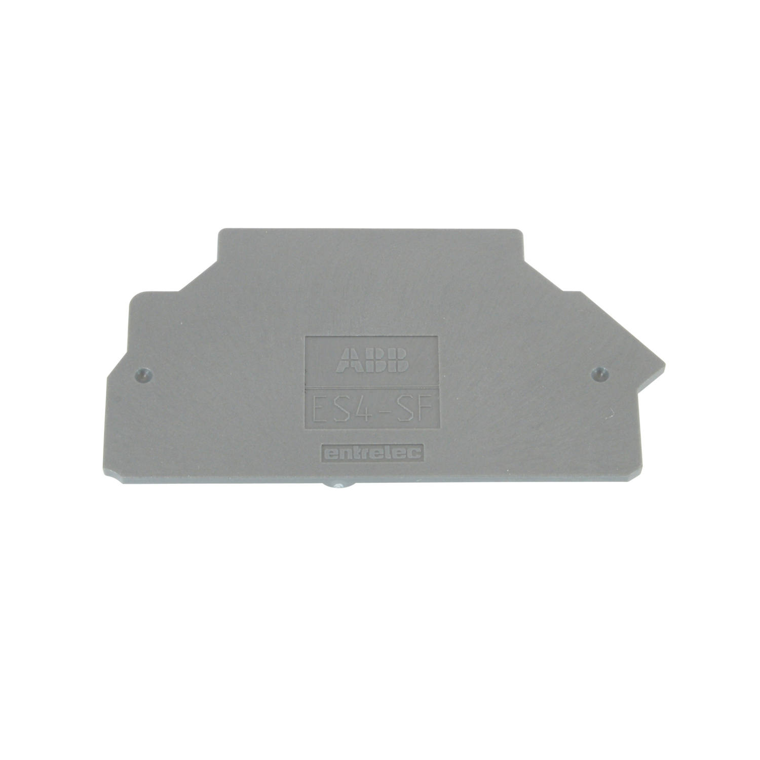 ABB,1SNK508960R0000,ABB 1SNK508960R0000 End Section, For Use With SNK Screw Clamp Terminal Blocks, Polyamide, Dark Grey