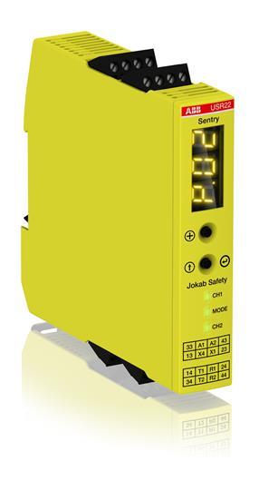 2TLA010070R0400 JOKAB USR22 24VDC SENTRY UNIVERSAL SAFETY RELAY/TIMER 2NO+2NO (DELAYED) MULTIFUNCTION 0-999SECONDS