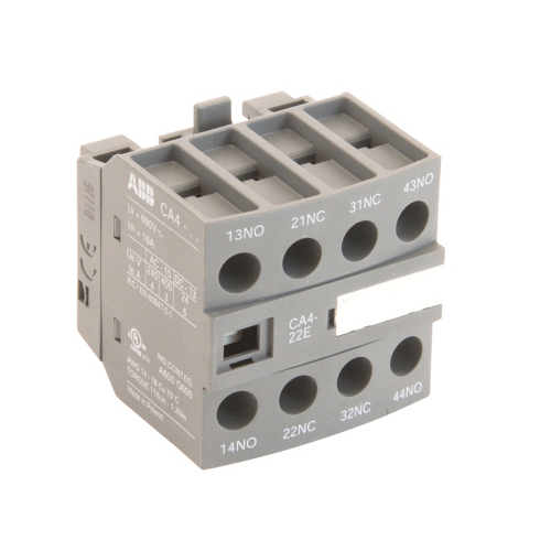 ABB CA4-22E 2 NO & 2 NC Front Mount, Auxiliary Contact Block, AF Series, 600V Rated. For use with AF26-AF38 Frame Contactors.