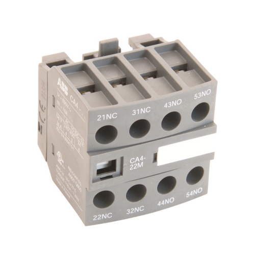 ABB CA4-22M 2 NO & 2 NC Front Mount, Auxiliary Contact Block, AF Series, 600V Rated. For use with AF9-AF16 Frame Contactors.