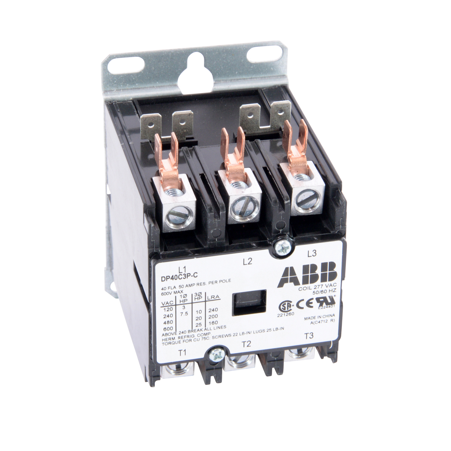 Abb Blazer Electric Supply Solid State Overload Relay Dp40c3p C Dpcontr 40a 3p 277v Ac 40 Amp 3